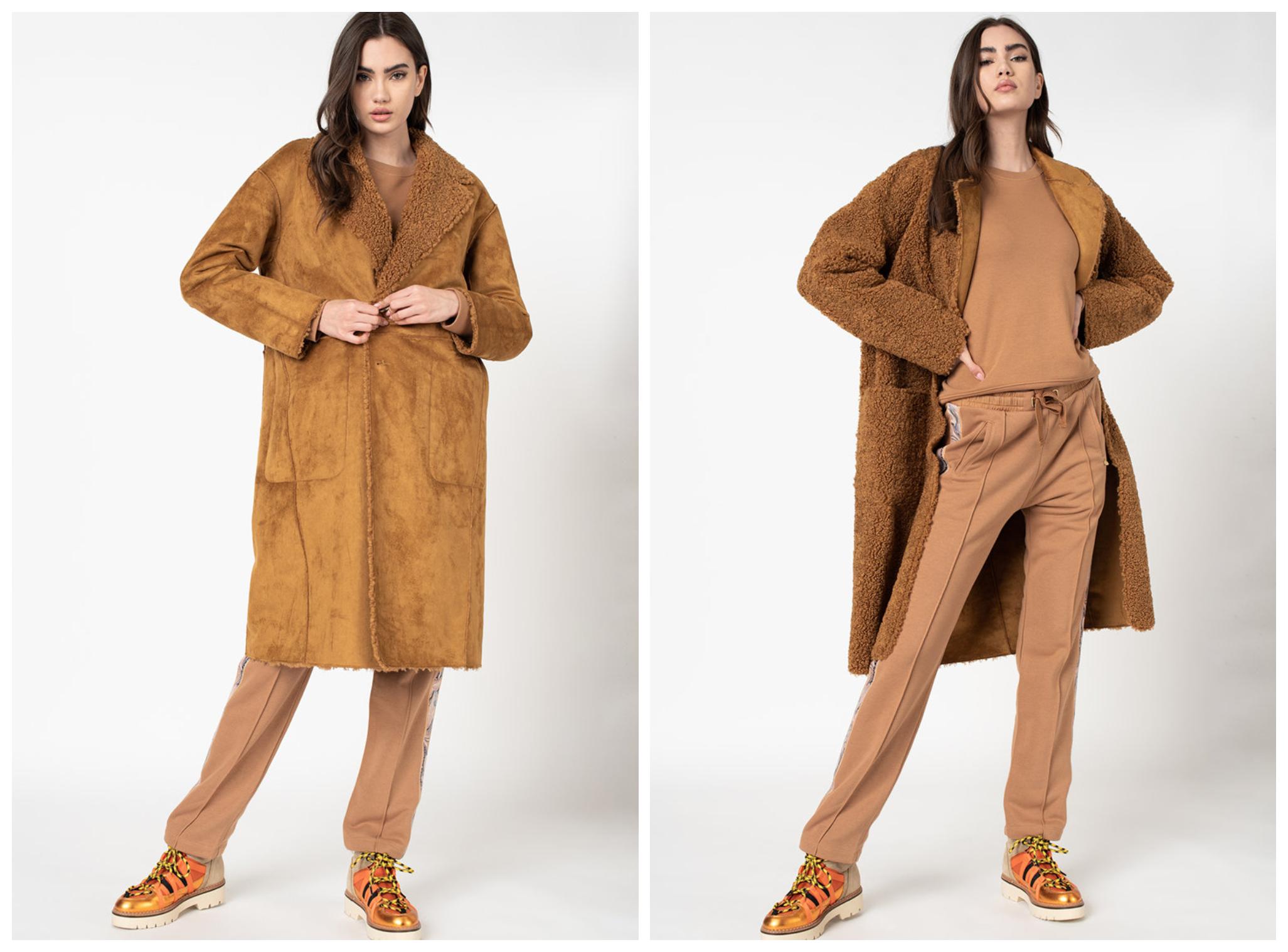 Дълго двулицево палто от Maison Scotch