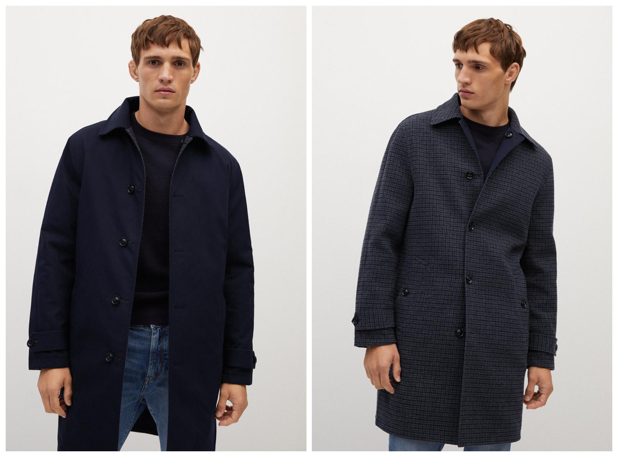 Двулицево палто с вълна от Mango