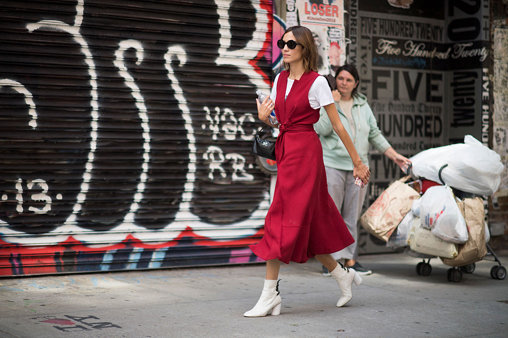 NEW YORK, NY - SEPTEMBER 12: Alexa Chung seen in the streets of New York during the New York Fashion Week on September 12, 2016 in New York City. (Photo by Timur Emek/Getty Images)